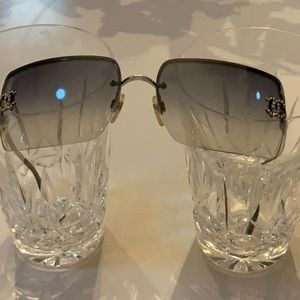 VINTAGE CHANEL RIMLESS SUNGLASSES WITH CRYSTALS